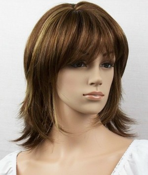 ladies mid length wig Anthea