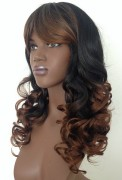 ladies long curly wig