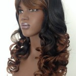 ladies long curly wig