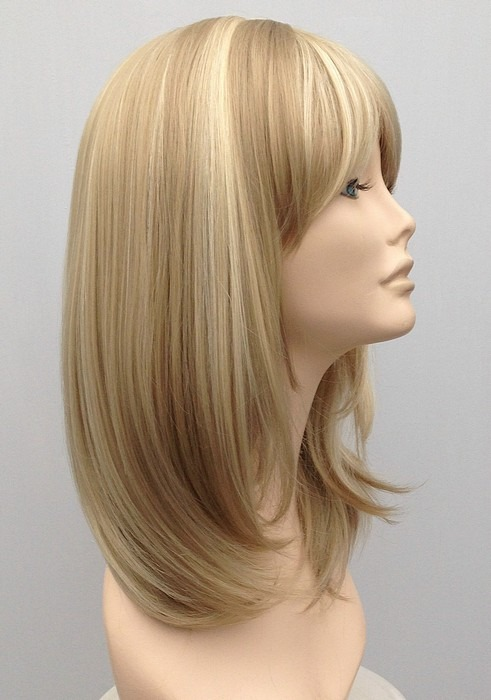 Mid Length Blonde Wig Amber (1)