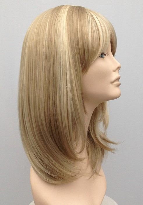 Mid Length Blonde Wig Amber (1)