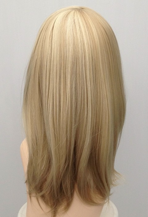 Mid Length Blonde Wig Amber (2)