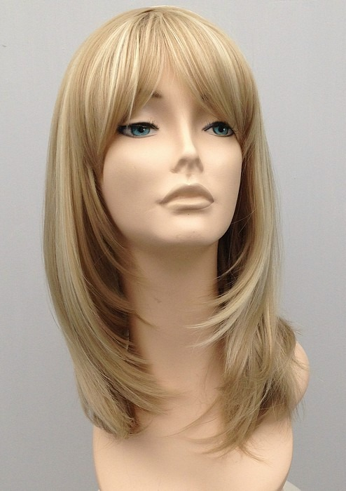 Mid Length Blonde Wig Amber (3)