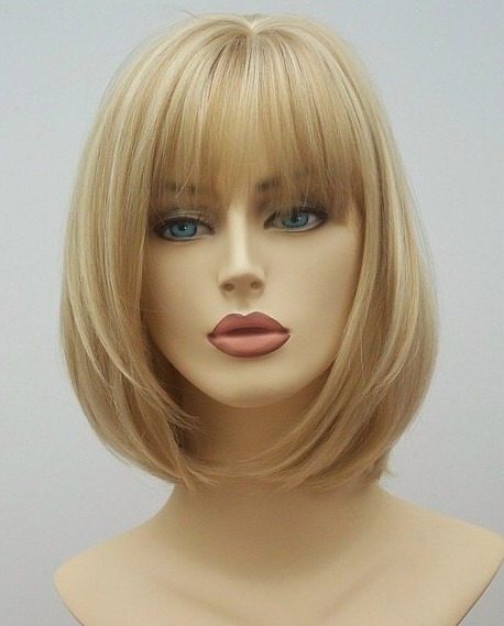 Mid Length Blonde wig Angel (1)