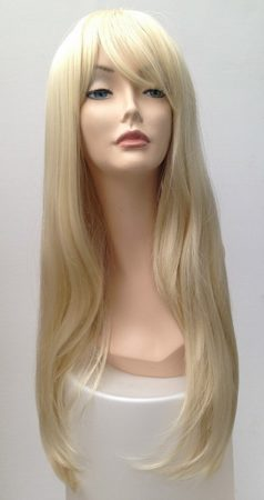extra long light blonde wig