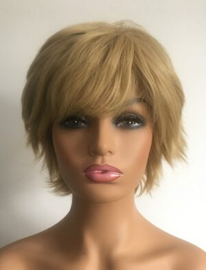 Short blonde wig Cici