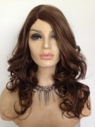 curly long brown wig Annabel