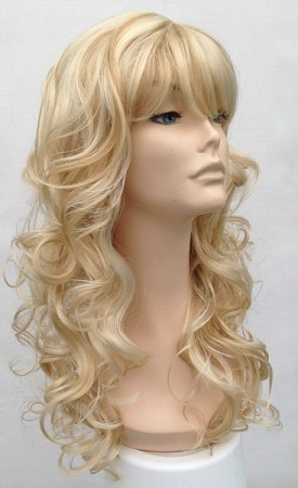 long blonde curly wig Talissa