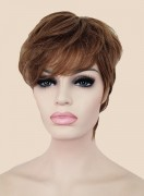 ladies light brown short wig