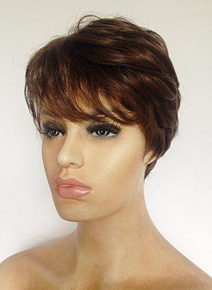 short ladies brown wig Nicky