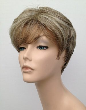 natural blonde highlighted short wig Simone