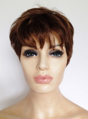 brown ladies short wig
