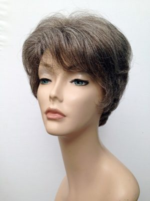 ladies short grey wig