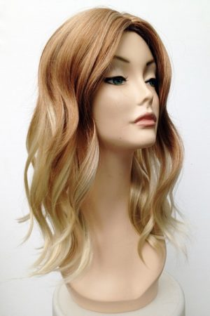 blonde wavy styled wig