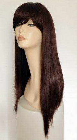 Ladies brown long straight wig