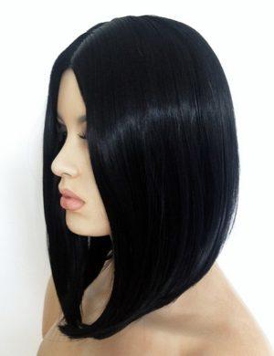 black wig long bob style