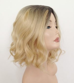 Kiki messy blonde bob wig