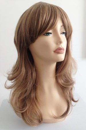 ladies light brown long wig Gemma