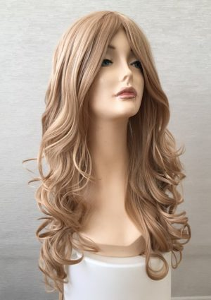 long curly blonde wig Freya