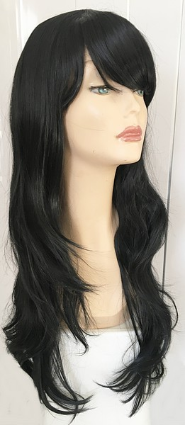 Black extra long wig Mackenzie