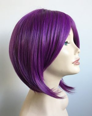 Purple bob wig Skylar