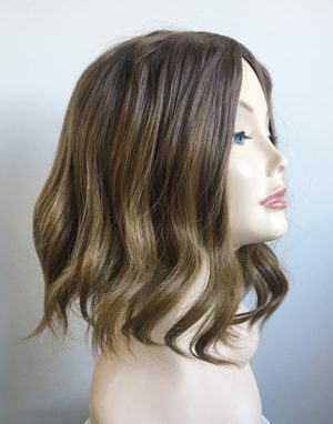Light brown messy bob wig Autumn