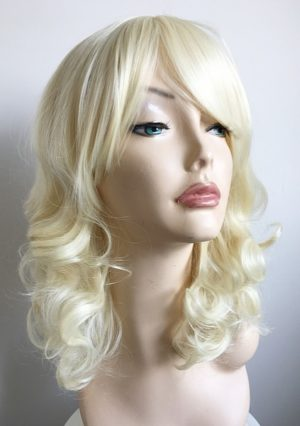 Lightest blonde curly wig Angie