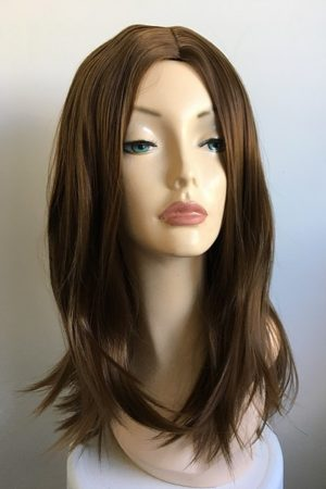carla long brown wig