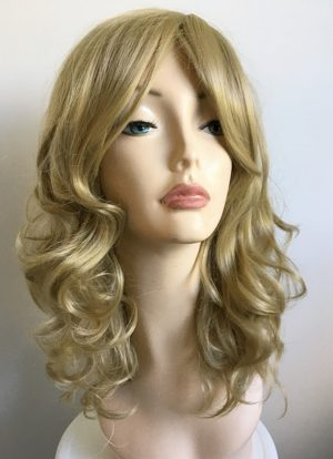 Faith blonde curly wig