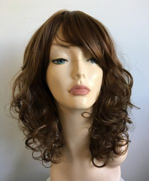 brown curly wig Tania