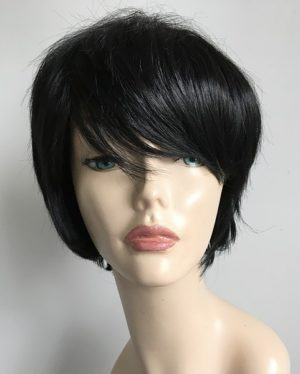 Short black bob wig Tia