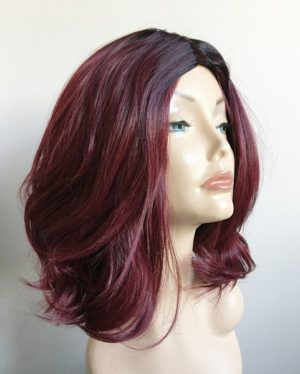 Red messy bob wig Cheryl