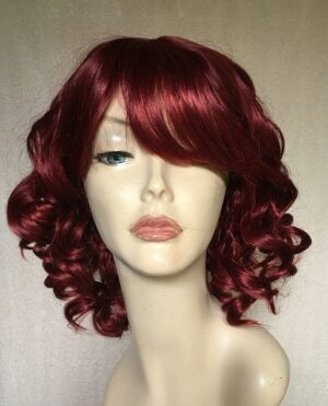 Burgundy red wig Arianna