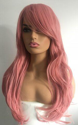 Pink long wig Rose