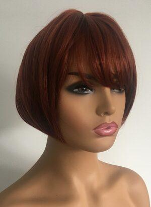 Red bob wig Jasmine