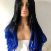 Long black and blue wavy wig Desire