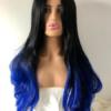 Long black and blue wavy wig Desire