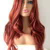 Long copper red wig Scarlett