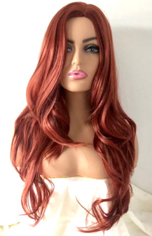 Long copper red wig Scarlett