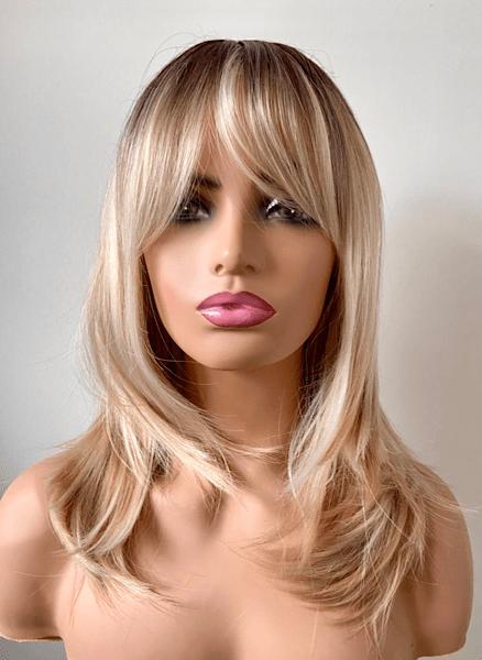 dark root blonde wig Amelia